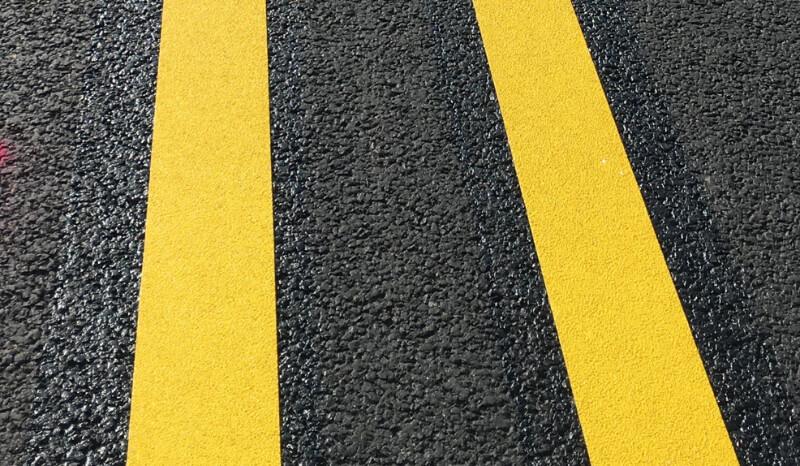 Permanent film marking Lane marking