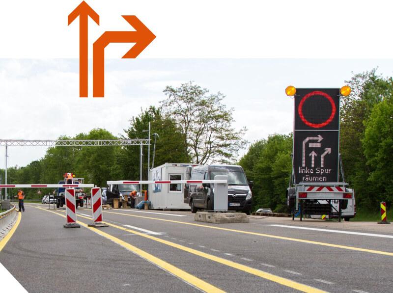 Fahrzeugdifferenzierung Verkehrsleitsystem