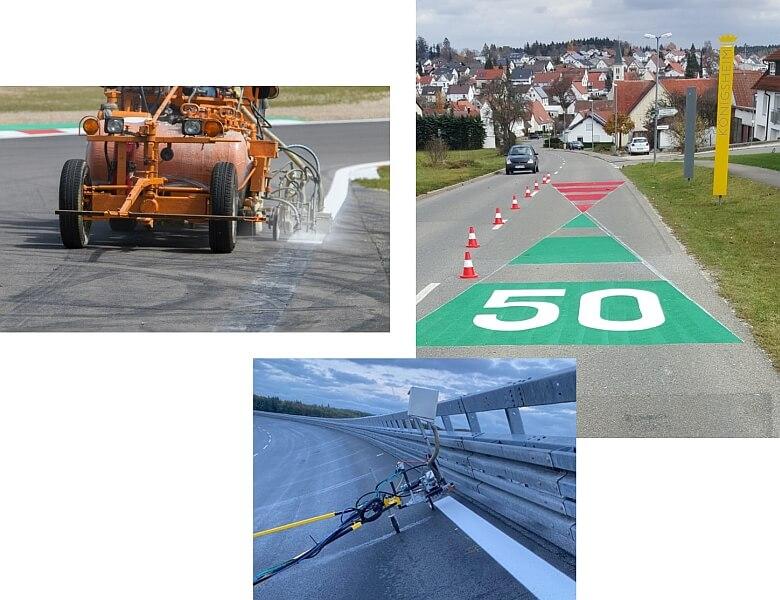Fahrbahnmarkierung Markierung Collage